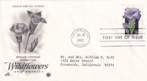 1992, Wildflowers-Fringed Gentian, Art Craft/PCS, FDC (E11563)