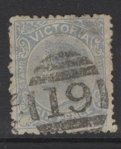 VICTORIA SG301 1885 6d CHALKY BLUE USED