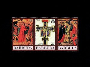 BARBUDA - 1970 - EASTER - CRUCIFIXION - DESCENT FROM CROSS - MINT MNH SET OF 3!