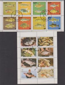 TtHEMATIC COLLECTION ON FISHS USED STAMPS   LOT#498,498A
