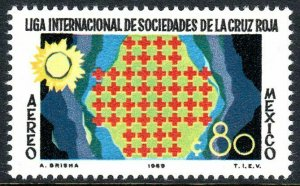 Mexico C370, MNH. League of Red Cross Societies, 50th anniv. 1969