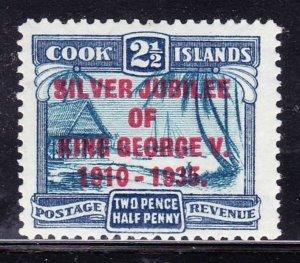 COOK ISLANDS 1935 2.5d Dull & Deep Blue SG0114 MH
