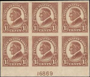 576 Mint,OG,NH... Plate Block of 6... SCV $45.00