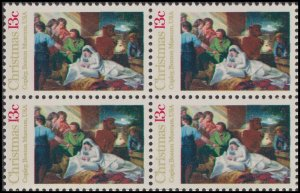 US 1701 Christmas Nativity 13c block (4 stamps) MNH 1976