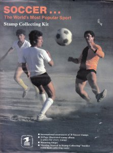 Soccer Stamp Collecting Kit 1980's, Sealed.