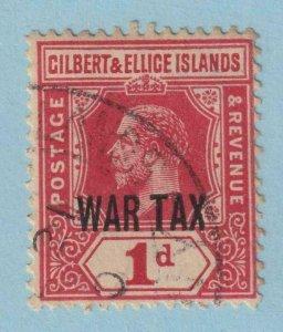 GILBERT & ELLICE ISLANDS MR1 WAR TAX  USED - NO FAULTS EXTRA FINE!