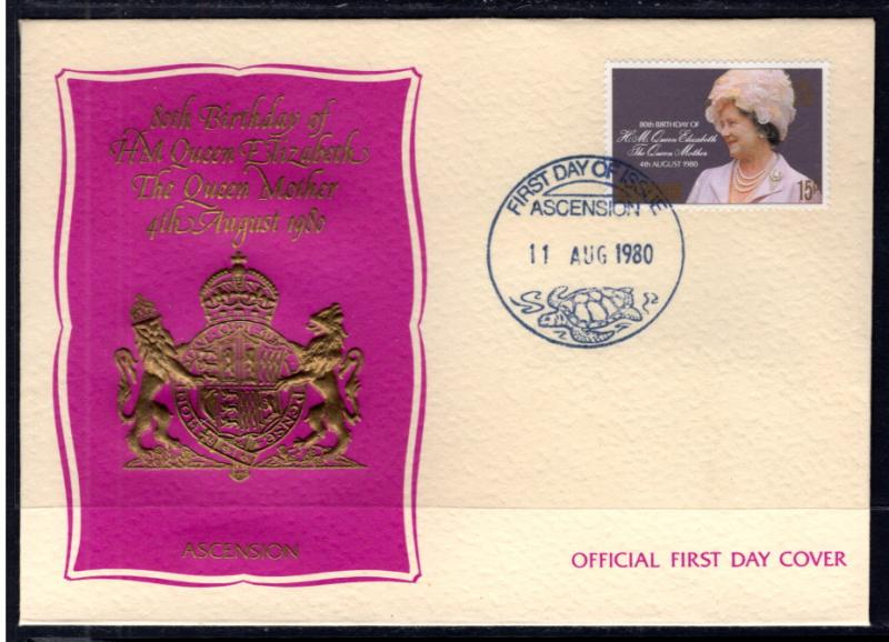 Ascension 261 Queen Mother U/A FDC
