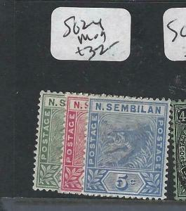 MALAYA  NEGRI SEMBILAN   (P1704B)  TIGER  SET 1C-5C  SG 2-4  MOG