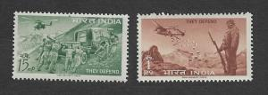 India 1963 Defence Campaign set of 2 MNH