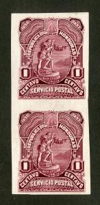 HONDURAS 65 TRIAL COLOR PROOF IMPERF PAIR MNH BIN $5.00 PERSON