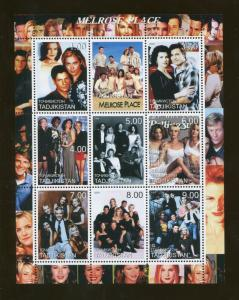 Tajikistan Commemorative Souvenir Stamp Sheet - TV Show - Melrose Place