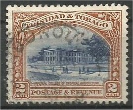 TRINIDAD AND TOBAGO, 1935, used 2p, Agricultural College  Scott 35