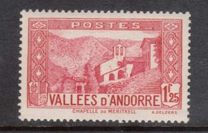 French Andorra #52 VF Mint