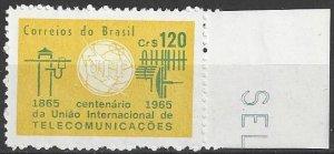 Brazil 1001  MNH  UN ITU Centenary