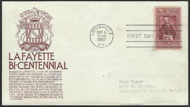 USA #1097 First Day Cover