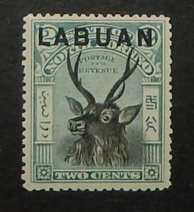 Labuan 73. 1897 2c Blue and black