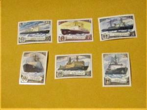 Russia - 4721-25, MNH Set. Icebreakers. SCV - $1.75