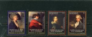 MICRONESIA 2004 PAINTINGS FROM HERMITAGE SET OF 4 STAMPS MNH