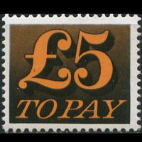 G.B. 1973 - Scott# J91 Numeral pound 5 NH