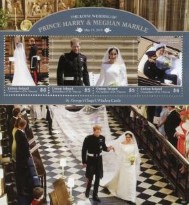 Union Isl Gren Vincent 2018 MNH Prince Harry Meghan Royal Wedding 4v M/S Stamps