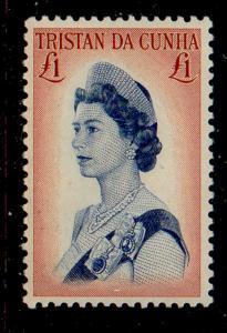 Tristan da Cunha Sc 115 1967 £1 QE II stamp mint NH
