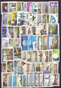 J22668 Jlstamps 1985-8 italy sets and sets of 1 mnh #1638//1748