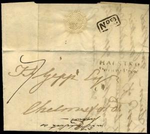 1816 *HALSTEAD / Penny Post* Castle Hedingham *No.2* Receiver