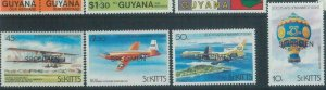 78381 - ST KITTS - STAMPS - 1983 AIRPLANES balloons MNH Overprinted SPECIMEN