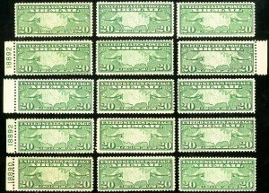 US Stamps # C9 MNH F-VF Lot of 25x