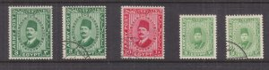 BRITISH FORCES IN EGYPT, 1936-1939 selection, lhm. & used. (5).