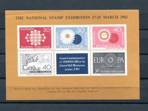Finland 1961  Europa  exhibition sheet  VF NH - Lakeshore Philatelics