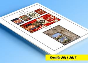 COLOR PRINTED CROATIA 2011-2017 STAMP ALBUM PAGES (46 illustrated pages)
