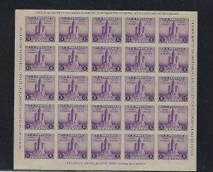 US #731 1933 AMERICAN PHILATELIC SOCIETY 3C (PURPLE)  -MINT NEVER  HINGED