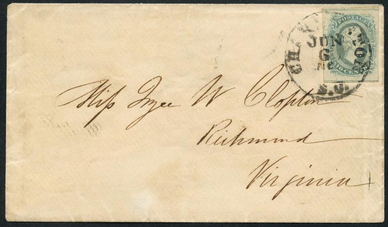 CSA #10 ON COVER CHARLESTON, SC TO RICHMOND, VA WITH PF CERT WLM4263