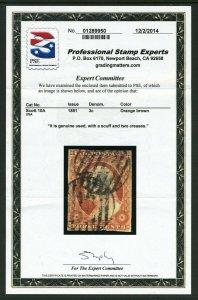 #10A 3 cent Washington - PSE CERTIFICATE cv$160.00
