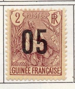 French Guinea 1912 Early Issue Fine Mint Hinged 05c. Surcharged 193449