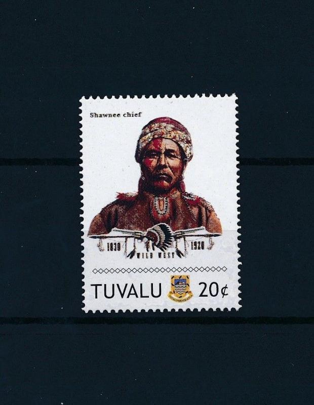 [80908] Tuvalu 2011 Native Americans Indians Shawnee Chief MNH