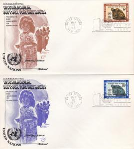 U.N. # 216-217, Fleetwood Cachet, Unaddressed, 1st Day Cover