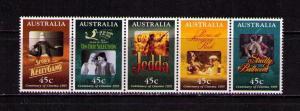 AUSTRALIA Sc# 1445a MNH FVF Strip5 Cinema Kelly Gang Jedda
