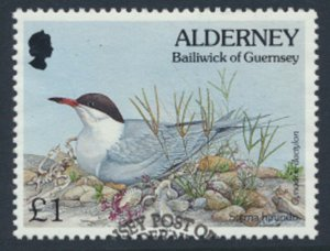 Alderney  SG A76  SC# 86  Birds Used First Day Cancel - as per scan