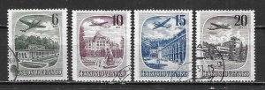 Czechoslovakia C36-39 Scenes set Used