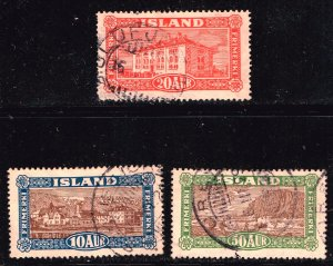Iceland Stamp 1925 Landscapes USED STAMPS LOT