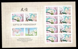 US 4982-4985 Gifts of Friendship Forever Sheet MNH 2015 Dogwood Blossoms Japan