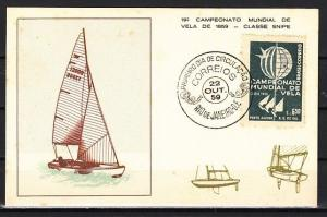 Brazil, Scott cat. 898. Sailboat Championship issue. First day card. ^