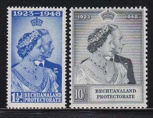 Bechuanaland 62 & 63 VF-MLH set Silver Wedding nice colors scv $ 50 ! see pic !
