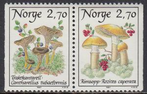 Norway 884-5 MNH - Mushrooms