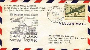 1946, 1st Pan-Am Flt., FAM-5, San Juan, Puerto Rico to New York, NY (39207)
