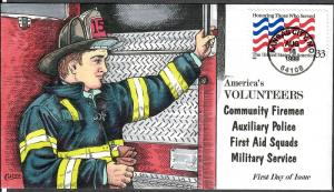 US Collins FDC SC#3331 America's Volunteers