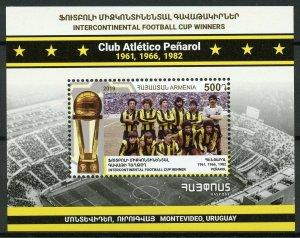Armenia Football Stamps 2019 MNH Atletico Penarol Intercontinental Cup 1v M/S