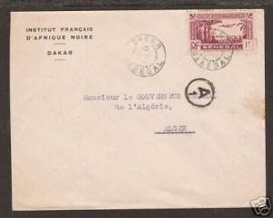 Senegal Sc 160 on 1943 cover to Algeria VF